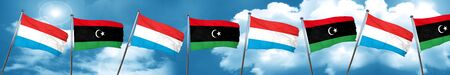 libya: Luxembourg flag with Libya flag, 3D rendering