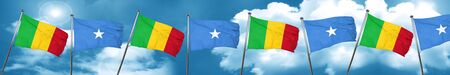 Mali flag with Somalia flag, 3D rendering Stock Photo