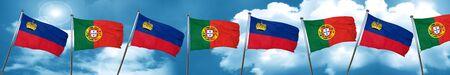 drapeau portugal: drapeau Liechtenstein Portugal drapeau, rendu 3D