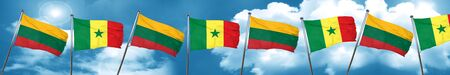 Lithuania flag with Senegal flag, 3D rendering Stock Photo