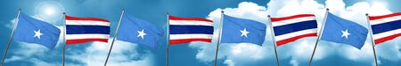 Somalia flag with Thailand flag, 3D rendering Stock Photo