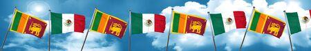 Sri lanka flag with Mexico flag, 3D rendering Stock Photo