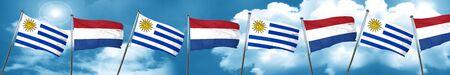 bandera de uruguay: Bandera de Uruguay con bandera de los Países Bajos, 3D