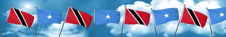 Trinidad and tobago flag with Somalia flag, 3D rendering