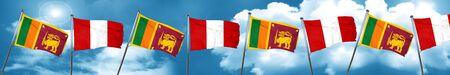bandera de peru: bandera de Sri Lanka con la bandera de Perú, 3D