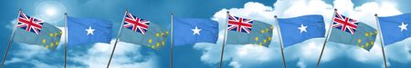 Tuvalu flag with Somalia flag, 3D rendering Stock Photo