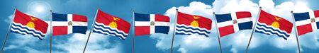 Kiribati flag with Dominican Republic flag, 3D rendering Stock Photo
