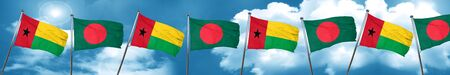 Guinea bissau flag with Bangladesh flag, 3D rendering Stock Photo