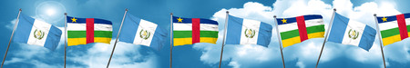 central african republic: guatemala flag with Central African Republic flag, 3D rendering