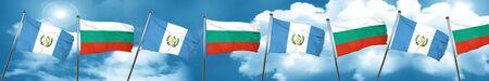 guatemalan: guatemala flag with Bulgaria flag, 3D rendering