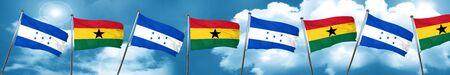 ghanese: Honduras flag with Ghana flag, 3D rendering Stock Photo