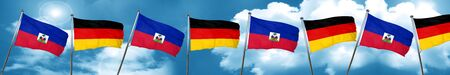Haiti flag with Germany flag, 3D rendering Stock Photo