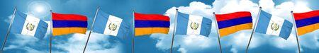 guatemalan: guatemala flag with Armenia flag, 3D rendering