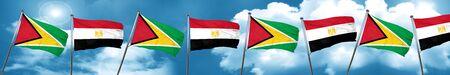 bandera de egipto: Bandera de Guyana con bandera de Egipto, 3D Foto de archivo