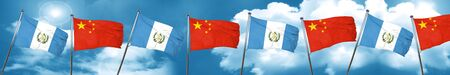 guatemala flag with China flag, 3D rendering Stock Photo