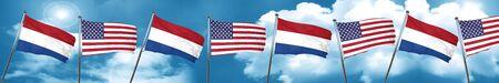 Netherlands flag, 3D rendering