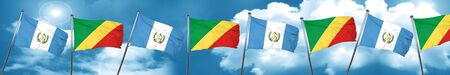 guatemala flag with congo flag, 3D rendering Stock Photo