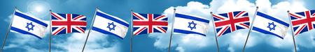 bandera de gran bretaña: Indicador de Israel con la bandera de Gran Bretaña, 3D