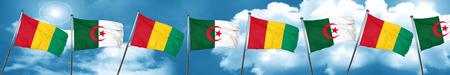 Bandera de Guinea con bandera de Argelia, 3D