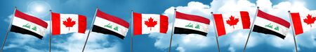 Iraq flag with Canada flag, 3D rendering Stock Photo