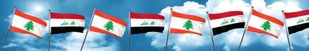 iraq: Lebanon flag with Iraq flag, 3D rendering
