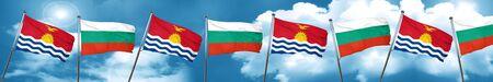 Kiribati flag with Bulgaria flag, 3D rendering
