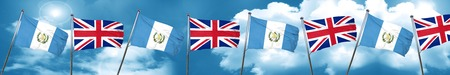 guatemala flag with Great Britain flag, 3D rendering