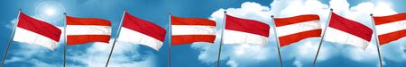 monaco flag with Austria flag, 3D rendering Stock Photo