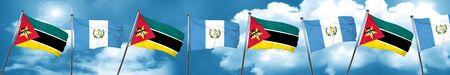 bandera de guatemala: Mozambique flag with Guatemala flag, 3D rendering