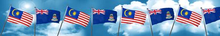 cayman: Malaysia flag with Cayman islands flag, 3D rendering Stock Photo