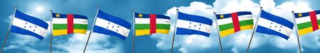 bandera honduras: Honduras flag with Central African Republic flag, 3D rendering