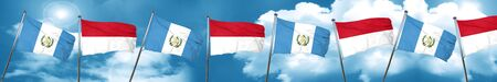 guatemalan: guatemala flag with Indonesia flag, 3D rendering