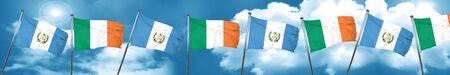 guatemalan: guatemala flag with Ireland flag, 3D rendering Stock Photo