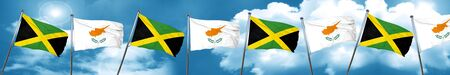 cyprus: Jamaica flag with Cyprus flag, 3D rendering