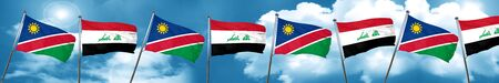 iraqi: Namibia flag with Iraq flag, 3D rendering