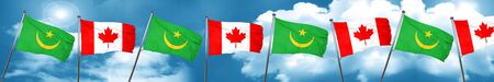 canadian flag: Mauritania flag with Canada flag, 3D rendering