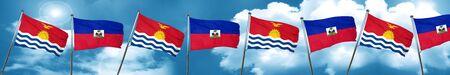 haiti: Kiribati flag with Haiti flag, 3D rendering
