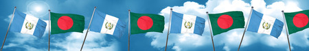 bandera de guatemala: guatemala flag with Bangladesh flag, 3D rendering