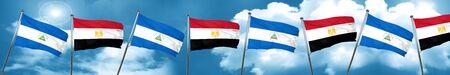 bandera de egipto: Bandera de Nicaragua con bandera de Egipto, 3D