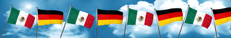 mexico flag with Germany flag, 3D rendering Stock Photo
