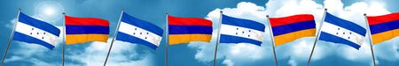 bandera honduras: Honduras flag with Armenia flag, 3D rendering