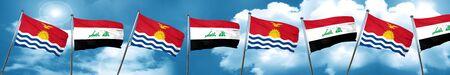 iraq: Kiribati flag with Iraq flag, 3D rendering