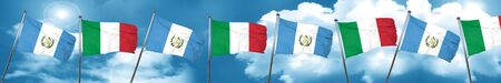 guatemalan: guatemala flag with Italy flag, 3D rendering Stock Photo