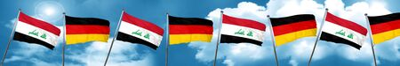 iraq flag: Iraq flag with Germany flag, 3D rendering