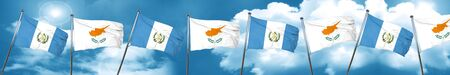 guatemalan: guatemala flag with Cyprus flag, 3D rendering