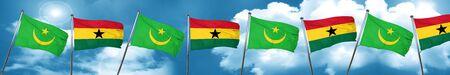ghanese: Mauritania flag with Ghana flag, 3D rendering