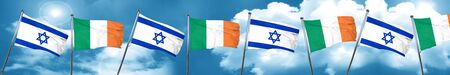 israel flag: Israel flag with Ireland flag, 3D rendering