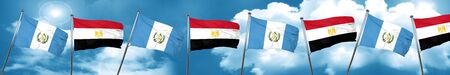 guatemala flag with egypt flag, 3D rendering