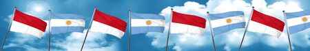 monaco flag with Argentine flag, 3D rendering