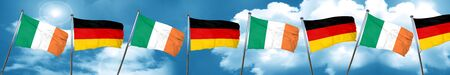Ireland flag with Germany flag, 3D rendering Stock Photo